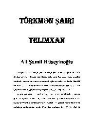 Türkmen Şairi Telimxan Ali Şamil Hüseyinoğlu 31s