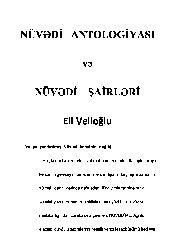 Nuvedi Antolojyasi Ve Nuvedi Şairleri-Eli Velioğlu-2010-326s
