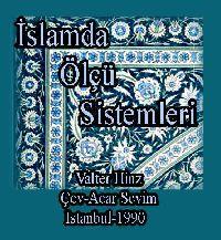Islamda Ölçü Sistimleri - Valter Hinz - Acar Sevim