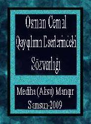 Osman Cemal Qayqılının Eserlerindeki Sözvarlığı