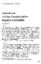 Osmanlıdan Türkiye Cumhuriyetine-Değişme ve Süreklilik  Fatma ACUN  13