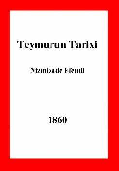 Teymur lengin tarixi - Nizamizade Efendi - 1277 hicri- Ebced- Daş Çapı