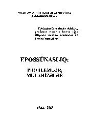 Eposşünaslıq-Problemler Mulahizeler-Baki-2013-257s