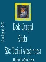 Dede Qurqud Kitabı Söz Dizimi Araşdırması