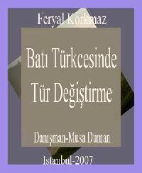 Bati Türkcesinde Tür Değiştirme