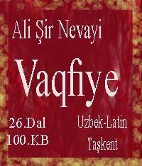 Vaqfiye Alisher Navoiy