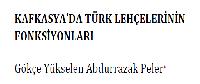 Qafqazyada Türk Lehcelerinin Fonksiyonları-Gökce Yükselen Abdurrazaq Peler-26s
