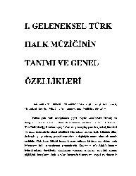 Geleneksel Türk Xalq Müziğinin Tanımı Ve Genel Özellikleri-97s