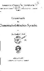 -Gramatik Der Osmanisch-Turkischen Sprache-Almanca-272s