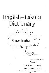 English-Lakota Dictionary-Bruce Ingham-2002-300s