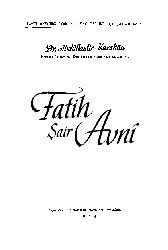 Fatih- Şair Avni Ebdülqadir Qaraxan 1954 42s