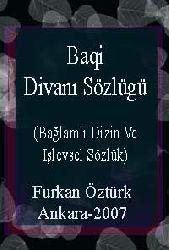 Baqi Divanı Sözlügü -Bağlamlı Dizin Ve Işlevsel Sözlük