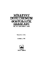 Milliyet Duyqusunun Sosyolojik Esaslari-Sadri Maqsudi Arsal-Istanbul-1979-188