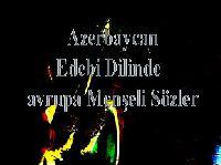 Azerbaycan Edebi Dilinde avrupa Menşeli Sözler