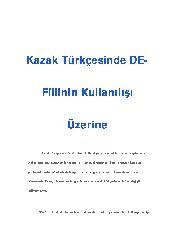 Qazaq Türkcesinde de-fiilinin kullanılışı uzerine-Nergis Biray-50s
