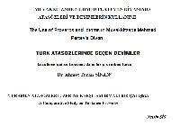 Muvaqqitzade Mehmed Pertevin Divanında Atasözleri Ve Deyimlerin Kullanımı-Mehmed Ulucan-32s+Türkmen Atasözleri Üzerine Qarşılaşdırmalı Bir Çalışma-Nesrin Sis-10s+Türk Atasözlerinde Deyimler-Ahmed Turan Sinan-5s