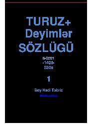 Turuz-Deyimler Sözlügü  Bey Hadi-Tebriz-2021-850s