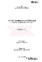 Güney Azerbaycan Türkcesi-Fonetik-Morfoloji-Sentaks-Mahmud Sarıqaya-Kayseri-1998-458s