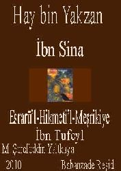 Hay Bin Yakzan-İbni Sina-İbn Tufeyl