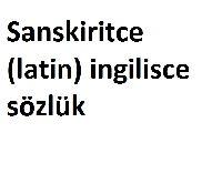 Sanskiritce-latin-ingilisce_sözlük