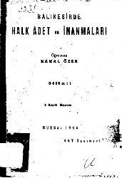 Balıqesirde Xalq Adet Ve Inanmaları-Kemal Özer-196-47s