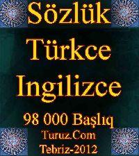 Türkce-Ingilizce Sözlük-98 000 Başlıq