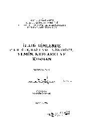 Ilahi Dinlerde Yemin-Yahudilik-Hıristiyanlıq-Islamiyet-Keffaret Ve Qurban-Nermin Öztürk-1996-130s