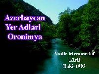 Azerbaycan Yer Adlari- Oronimya