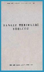 Zanaat (Sanaat) Terimleri Sözlügü