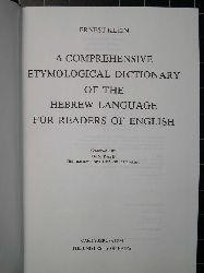 Etymological Dictionary of the Hebrew Language-Haim Rabin-1987-736s