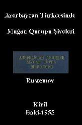 Azerbaycan Türkcesinde Muğan Qurupu Şiveleri
