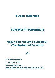 Soqratın Savunması-Platon-Eflatun-Çev-Niyazi Berkes-1946-103s