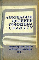 Azerbaycan Dilinin Orfoepiya Sözlüğü - Şireliyev-Memmedov - Baki-1983 –Kiril - 144s