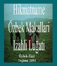 Hikmatname-Özbek Maqallari Izahli Luğati
