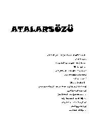 Atalarsözu-Ebced-1999-106s+Ish Yerinde Çalişanlarin Motivasyonunu Artıracaq Özlü Sözler-4s+Erzincan Atasözlerinin Cuğrafi Analizi-Adem Başiboyuk-16s+ Kirim Tatar Atasözlerinin Toplum Hayatinin Işleyiş Qurallarını Öğretme Ve Xatırlatma Işlevi- Mehmed Aça-13s