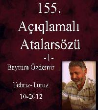 Açıqlamali Atalarsözü 1- Bayram Özdemir