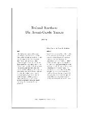 Bir Avanqard Yazarı-Roland Barthes-Ayşe Inal-30s