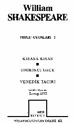 Toplu Oyunları-William Shakespeare-Zeyneb Avçı-1993-228s