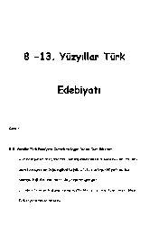 13.Yüzyıllar Türk Edebiyatı-73s