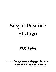 Sosyal Düşünce Sözlügü-1750 Başlıq-132
