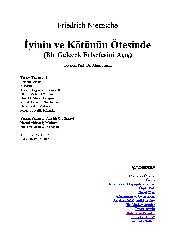 İyinin Ve Kötünün Ötesinde-Bir Geelecek Felsefeni Açış-Friedrich Nietzsche-Ahmed Inam-2001-106s
