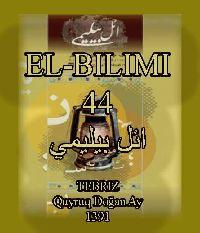 ائل بیلیمی درگیسی - سایی 44 - 1391 - EL-BILIMI - 1391-44