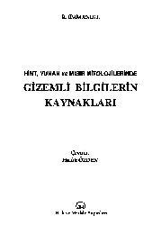 Hind-Yunan Ve Mısır Mitolojilerinde Gizemli Bilgilerin Qaynaqları-R.Emmanuel-Xaluq Özden-1995-151s