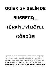Türkiyeyi Böyle Gördum-Ogier Chiselin De Busbecq-2002-140s