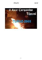 Il Axır Çerşenbe Töreni-TURUZ-2005-Göyce Yazılar-Ebced-88s