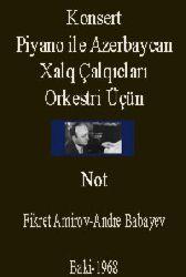 Konsert-Piyano Azerbaycan Xalq Çalqıcları Orkestri Üçün-Not