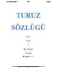 Turuz Sözlügü-7-Türkce-Türkce -Bey Hadi-Turuz-Tebriz- 2021-429s.