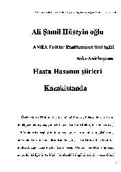 Xesde Hasanın Şiirleri Qazağistanda Ali Şamil Hüseyinoğlu-53