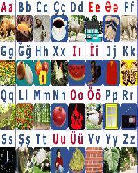 Şuşa Uşaqlar Üçün Azerbaycan Elifbasi-Alfabeti-Şekil-Yazı-Ses