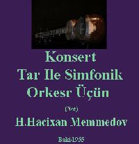 Konsert-Tar Ile Simfonik Orkesr Üçü
